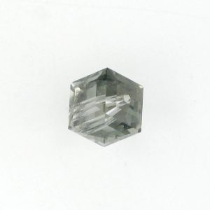5601 - 6mm Swarovski Cube Crystal - Black Diamond