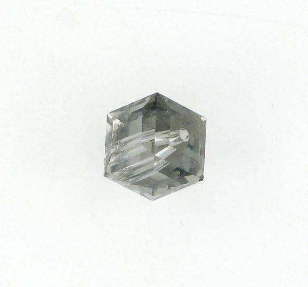 5601 - 6mm Swarovski Cube Crystal - Black Diamond