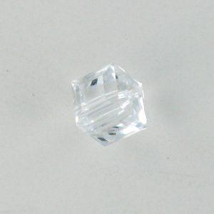 5601 - 6mm Swarovski Cube Crystal - Crystal