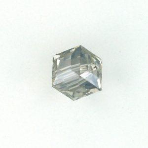 5601 - 4mm Swarovski Cube Crystal - Crystal Satin