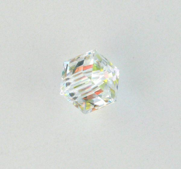 5601 - 6mm Swarovski Cube Crystal - Crystal AB