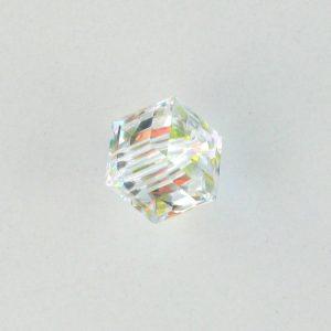 5601 - 4mm Swarovski Cube Crystal - Crystal AB