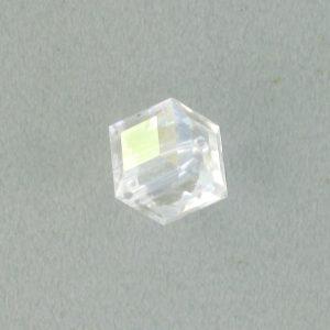5601 - 8mm Swarovski Cube Crystal - Crystal Moonlight