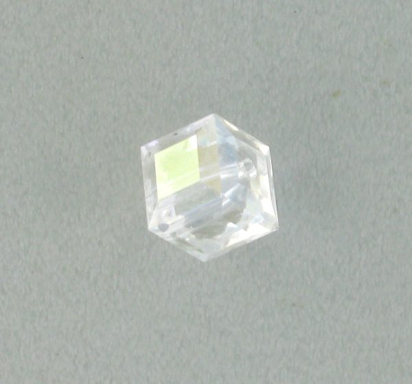 5601 - 6mm Swarovski Cube Crystal - Crystal Moonlight