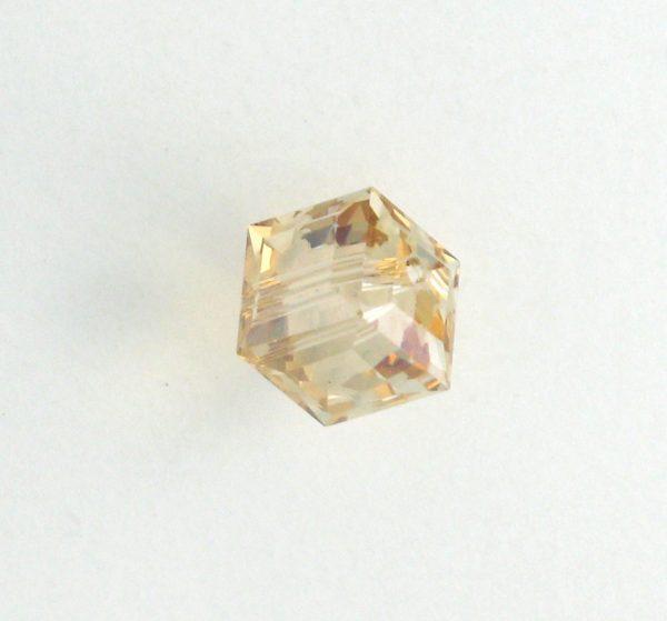 5601 - 6mm Swarovski Cube Crystal - Golden Shadow