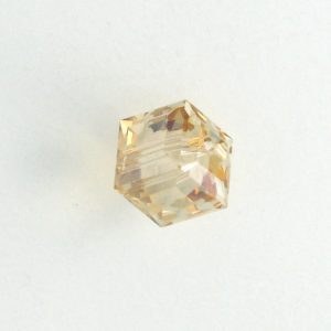 5601 - 4mm Swarovski Cube Crystal - Golden Shadow