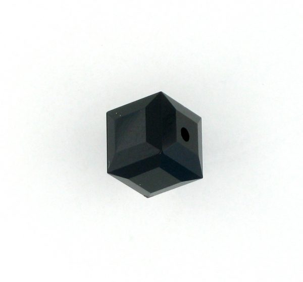 5601 - 8mm Swarovski Cube Crystal - Jet