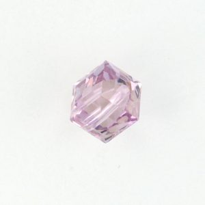 5601 - 6mm Swarovski Cube Crystal - Light Amethyst