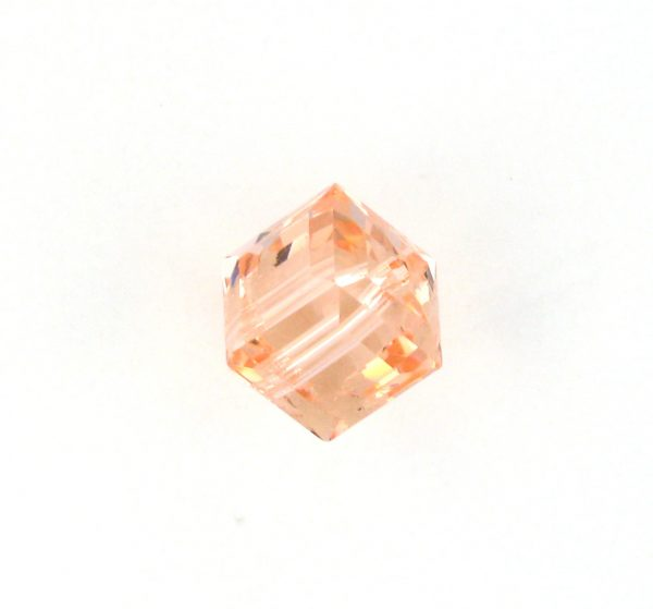 5601 - 6mm Swarovski Cube Crystal - Light Peach