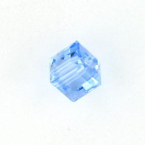 5601 - 4mm Swarovski Cube Crystal - Light Sapphire