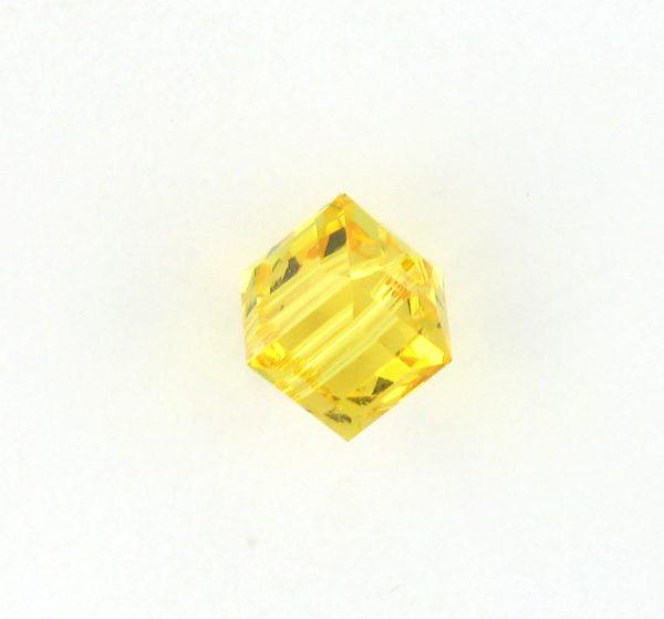 5601 - 8mm Swarovski Cube Crystal - Light Topaz
