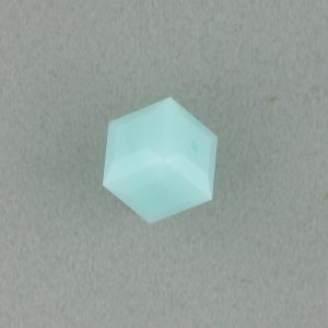 5601 - 6mm Swarovski Cube Crystal - Mint Alabaster