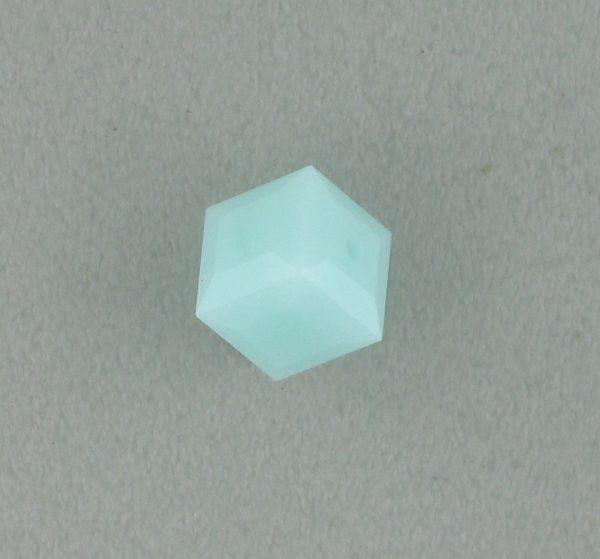 5601 - 6mm Swarovski Cube Crystal - Mint Alabaster
