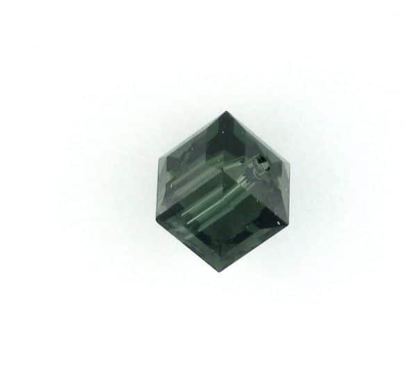 5601 - 8mm Swarovski Cube Crystal - Morion