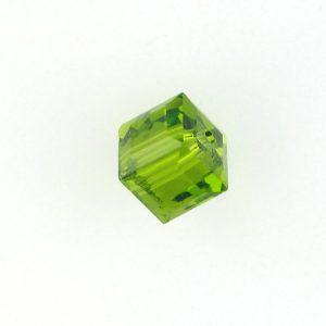 5601 - 4mm Swarovski Cube Crystal - Olivine