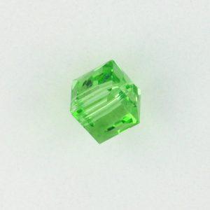 5601 - 10mm Swarovski Cube Crystal - Peridot