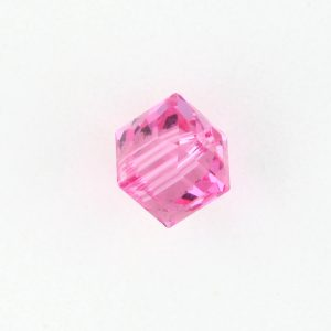 5601 - 6mm Swarovski Cube Crystal - Rose