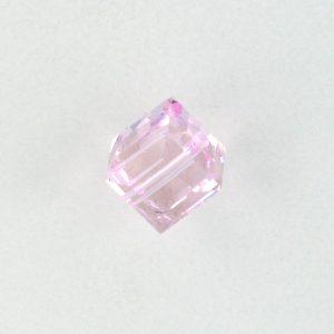 5601 - 6mm Swarovski Cube Crystal - Rosaline