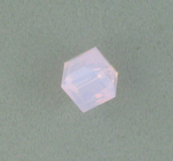 5601 - 6mm Swarovski Cube Crystal - Rose Water Opal