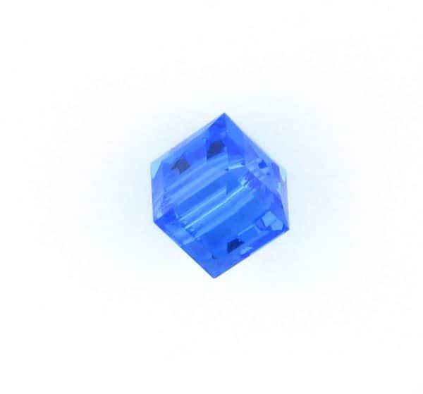 5601 - 4mm Swarovski Cube Crystal - Sapphire