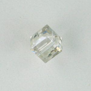 5601 - 8mm Swarovski Cube Crystal - Silver Shade