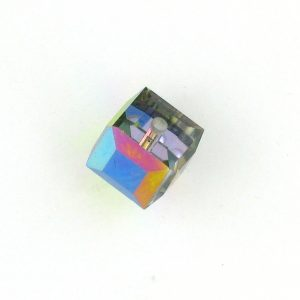 5601 - 6mm Swarovski Cube Crystal - Vitrail Medium