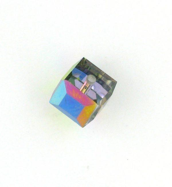 5601 - 4mm Swarovski Cube Crystal - Vitrail Medium