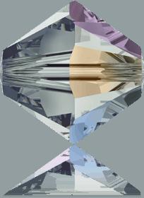 5301/5328 - 8mm Swarovski Bicone Crystal Bead - Black Diamond AB