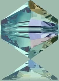 5301/5328 - 8mm Swarovski Bicone Crystal Bead - Blue Zircon AB
