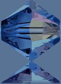5301/5328 - 8mm Swarovski Bicone Crystal Bead - Capri Blue AB