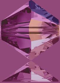 5301/5328 - 8mm Swarovski Bicone Crystal Bead - Fuchsia AB
