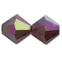 5301/5328 - 8mm Swarovski Bicone Crystal Bead - Garnet AB