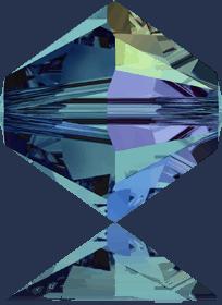 5301/5328 - 8mm Swarovski Bicone Crystal Bead - Indicolite AB