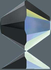 5301/5328 - 8mm Swarovski Bicone Crystal Bead - Jet AB