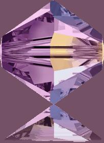 5301/5328 - 8mm Swarovski Bicone Crystal Bead - Light Amethyst AB