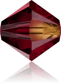 5301/5328 - 8mm Swarovski Bicone Crystal Bead - Siam AB