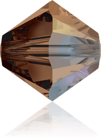 5301/5328 - 8mm Swarovski Bicone Crystal Bead - Smoked Topaz AB