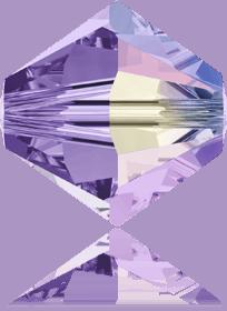 5301/5328 - 8mm Swarovski Bicone Crystal Bead - Tanzanite AB