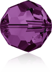 5000 - 8mm Swarovski Faceted Round Bead - Amethyst