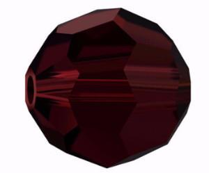 5000 - 8mm Swarovski Faceted Round Bead - Garnet