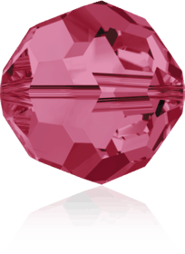 5000 - 8mm Swarovski Faceted Round Bead - Indian Pink
