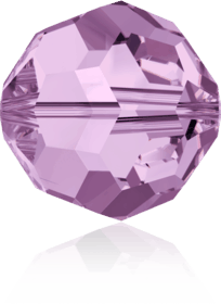 5000 - 8mm Swarovski Faceted Round Bead - Light Amethyst