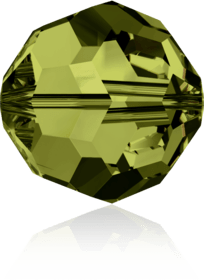 5000 - 8mm Swarovski Faceted Round Bead - Olivine