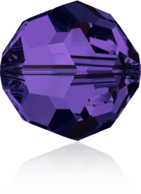 5000 - 8mm Swarovski Faceted Round Bead - Purple Velvet