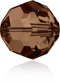 5000 - 8mm Swarovski Faceted Round Bead - Smoked Topaz