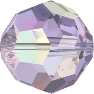 5000 - 8mm Swarovski Faceted Round Bead - Violet AB