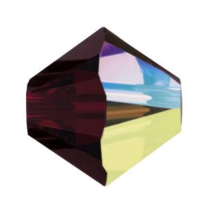 5301/5328 - 7mm Swarovski Bicone Crystal Bead - Garnet AB