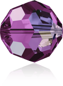 5000 - 8mm Swarovski Faceted Round Bead - Amethyst AB