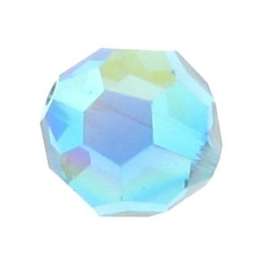 5000 - 8mm Swarovski Faceted Round Bead - Blue Zircon AB