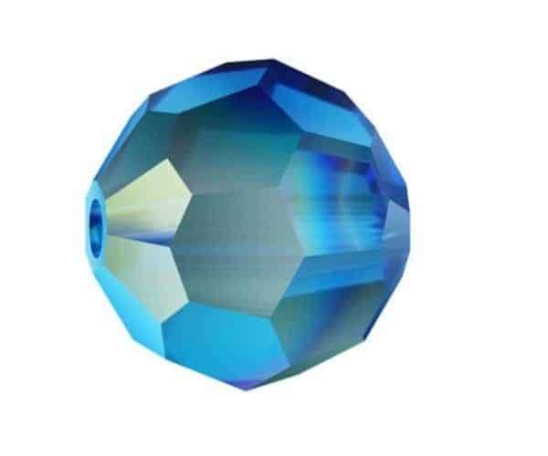 5000 - 8mm Swarovski Faceted Round Bead - Capri Blue AB